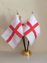 ST GEORGE ENGLAND TABLE FLAG SET - 4 FLAGS